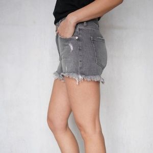 Forever 21 Distressed Gray Jean Shorts Size 27